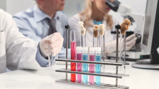 Group of scientists in a laboratory video