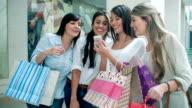 Group of shopping women video