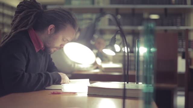 Group of Students Studying in a Library video
