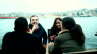 Group of Turkish Friends Drinking Cay, Traditional Tea video