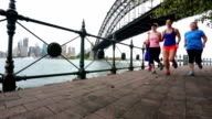 Group of Women Running for Exercise by Sydney Harbour video