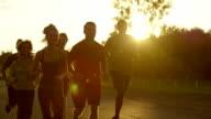 Group Running video