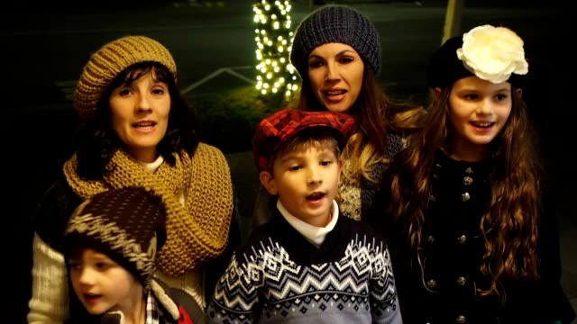 Group Singing Christmas Carols video