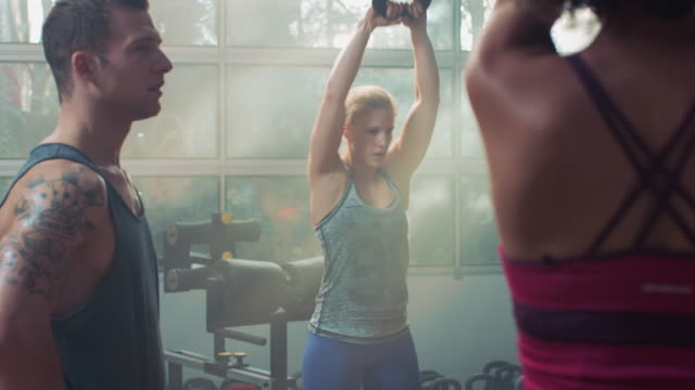 Group with kettle bells video