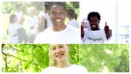 Groups of volunteers video