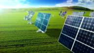 Grow up building solar panel generating energy video