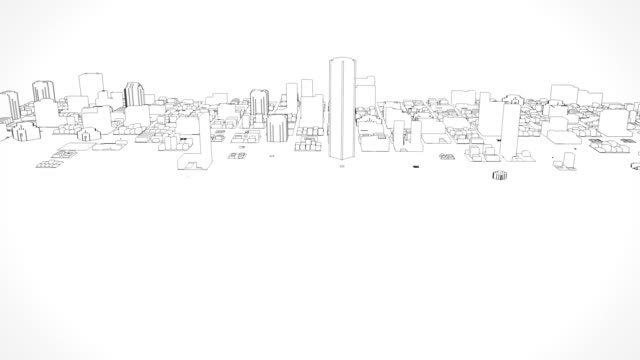 Growing city sketch video