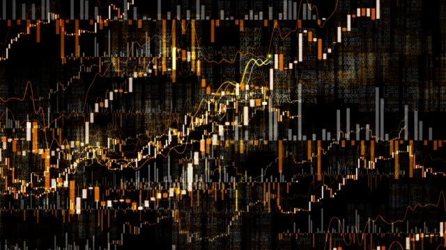 Growing Financial Charts Loop. Moves through. video