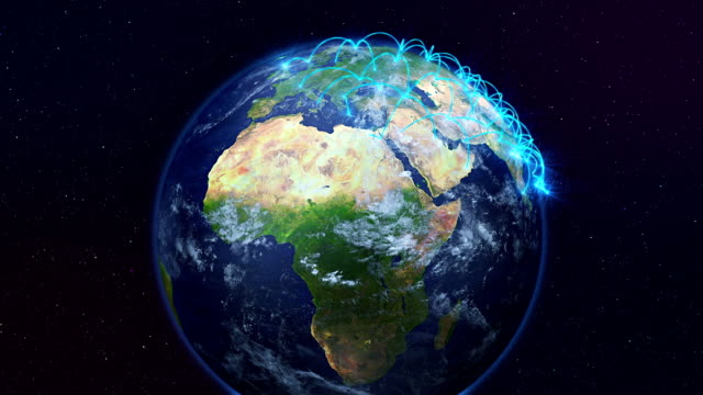 Growing network connections over the earth. video