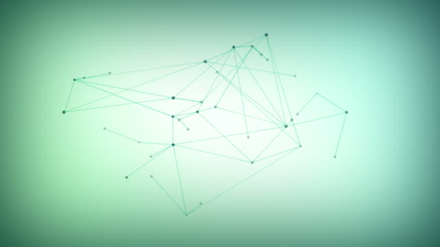 Growing network of lines and dots video