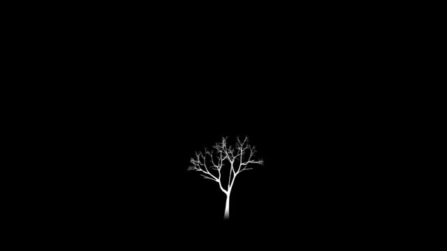 Growing tree alpha. video