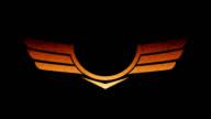 Growing wing logo video