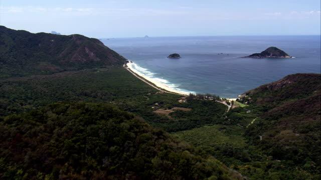 Grumari Beach  - Aerial View - Rio de Janeiro,Brazil video