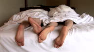 HD: Grumpy Feet in Bed video
