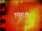 Grunge film negative 1960 video