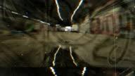 Grunge Graffiti Tunnel Texture. HD video