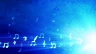 Grunge Music Background Blue video
