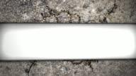 3D Grunge Ornamental Text Banner HD video