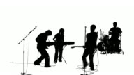 Grunge Rock Band Silhouette HD video