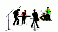 Grunge Rock Band Silhouette video