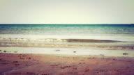 Grunge Shot Of A Peaceful Beach video