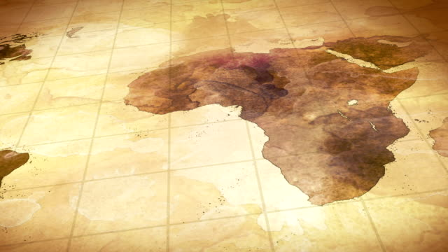 grunge stained map of the world loopable background video