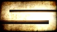 Grunge Stripes Title Plate - Brown (HD) video