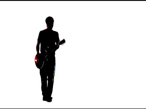 Grunge style lead guitarist video