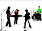 Grunge style punk rock band video