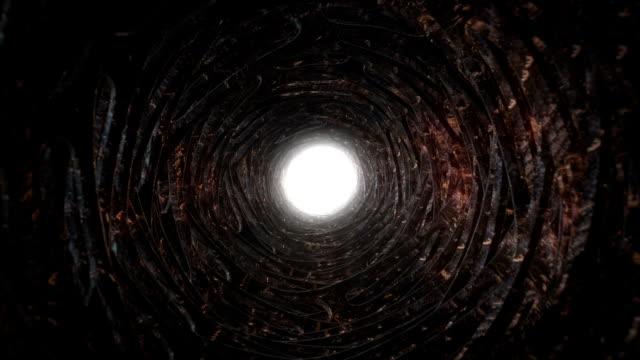 Grunge tunnel vision video