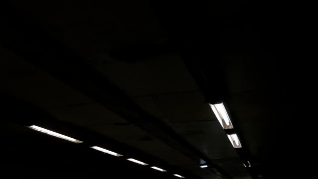 Grungy poor lighted ceiling video