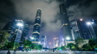 Guangzhou CBD Skyline at Night video