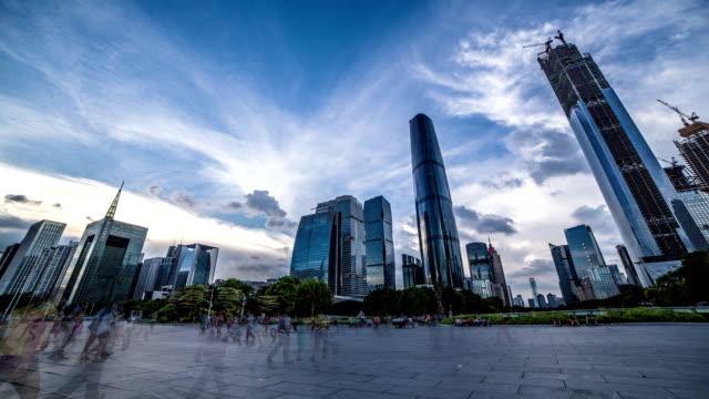 Guangzhou sunset timelapse video