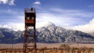 Guard Tower Searchlight Manzanar National Historic Site California video