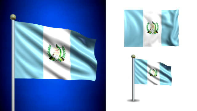 Guatemala flag - with Alpha channel, seamless loop! video
