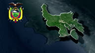 Guayas with Coat Of Arms Animation Map video