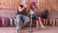 Guests in bedouin house video