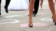 Guests Making Steps At Wedding Party video