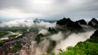 Guilin Hills in Mist at Sunrise video