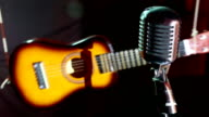 guitar and vintage microphone video