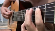 Guitar blues by the lake. video