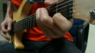 Guitar player close-up - Stock Video video