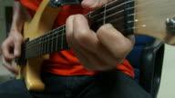 Guitar player close-up video