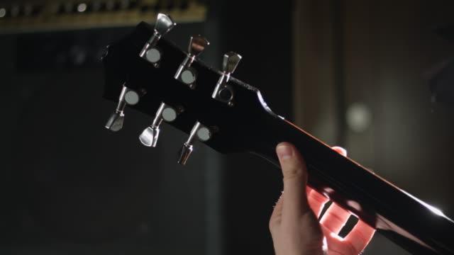 Guitarist play electric guitar video