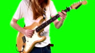 Guitarist playing electric guitar video