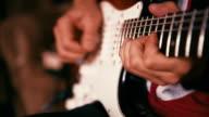 Guitarist Playing Guitar in the Studio video