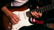 Guitarist Playing Guitar solo. video