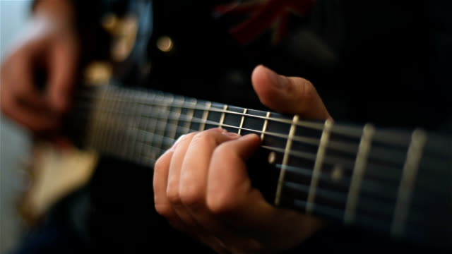 Guitarist Playing On Electrical Guitar video