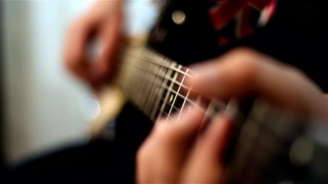 Guitarist Playing On Guitar video