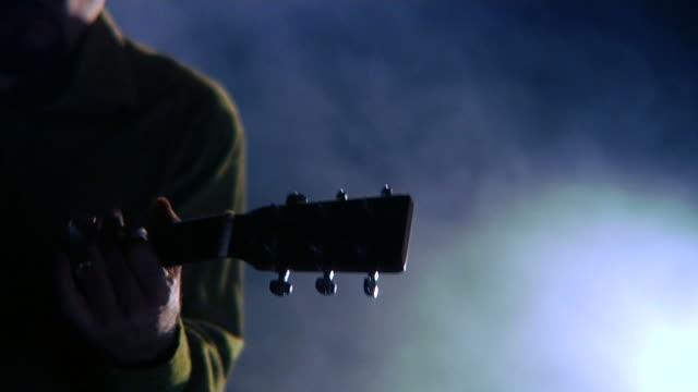 HD - Guitarist Playing Slide Guitar video